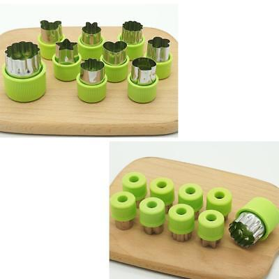 9PCS Stainless Steel Flower Shape Food Vegetable Fruit Cookie Cutter Mold Tools