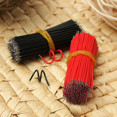 400pcs Black Red Kit Motherboard Breadboard Jumper Cable Wires Set Tinned 60mm
