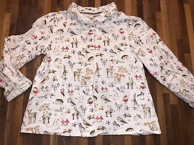 NEXT Gorgeous Girls Woodland Toadstool Deer Print Blouse 18-24m EXCELLENT COND
