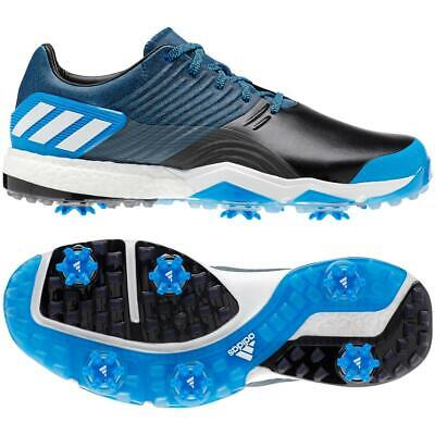 the latest dbee9 581e3 adidas Golf 2019 Adipower 4orged Golf Shoes (Bright Blue  Black  Shock  Yellow)