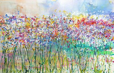 Large Flower Canvas Print - Signed By Caroline Ashwood Modern Art Ready To Hang