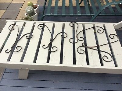 Decorative Antique Wrought iron 4 X Wall Scrolly Brackets / Wall Designs