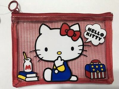 New SANRIO Hello Kitty Kawaii Cute Mesh Vinyl Case Pouch from Japan limited ver