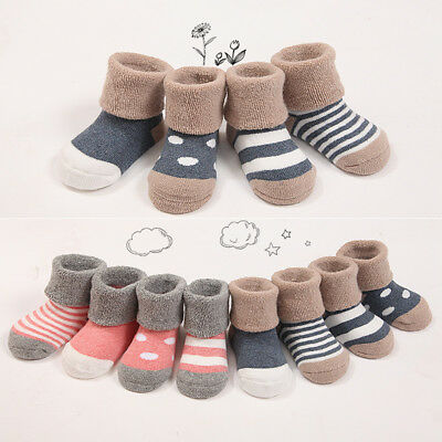 Candy Color Baby Girls Socks Anti Slip Warm Newborn Toddler Thicken Warm Socks