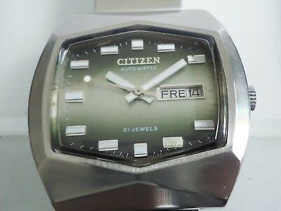 CITIZEN Automatic 21 Jewels Cal.6501 Day/Date Stahlgehäuse 1970er Jahre