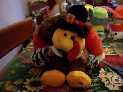 Adorable Plush Colorful Turkey New !