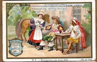 Musketeer Under French King Louis XIII Mousquetaires c1896 Trade Ad Card