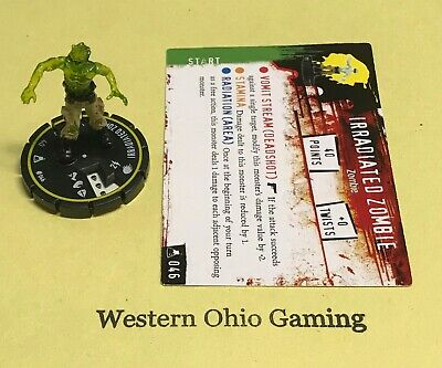 Horrorclix The Lab Irradiated Zombie #046 Rookie with Card USED from Booster