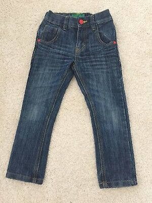 Boys Dark Blue Slim Fitting Jeans From Next, Age 5 Years