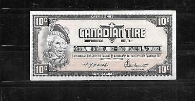 Canada Canadian 1974 10 Cent Vg Circulated Tire Money Currency Banknote  Note