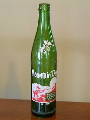 Vintage Mountain Dew Bottle One Pint It'll Tickle Your Innards
