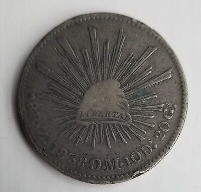 1838 Zs OM Mexico Silver 8 Reales