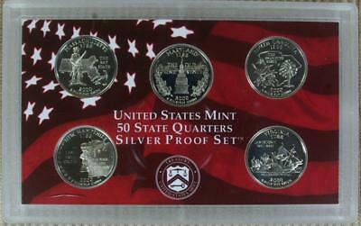 WEEKLY SPECIAL 2000-S SILVER Proof Statehood Quarter Set - @ CherrypickerCoins