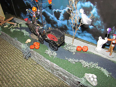 .HALLOWEEN Village STREET & Sidewalk Display ADD-ON platform base Dept 56 Lemax