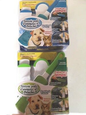 ACTISWEEP X2 lot 2 x 2 brosses  pour enlever poils cheveux peluche Actisweep x 2