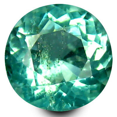 0.76 ct Round Cut (6 mm) Un-Heated Paraiba Blue Color Brazilian Apatite Gemstone