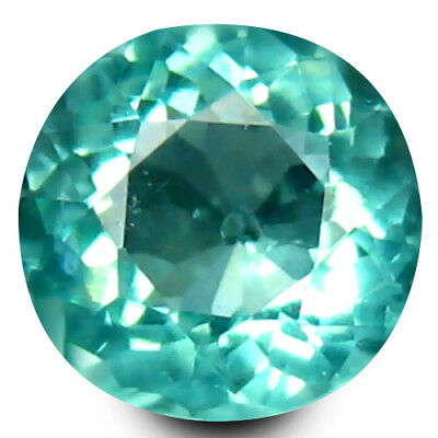 0.53 ct Round Cut (5 mm) Un-Heated Paraiba Blue Color Brazilian Apatite Gemstone