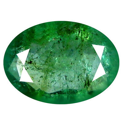 1.04 ct MIND-BOGGLING OVAL CUT (8 X 6 MM) COLOMBIAN EMERALD NATURAL GEMSTONE