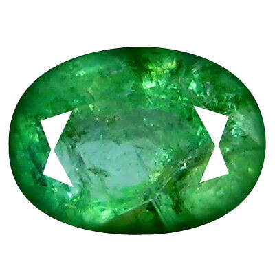 0.70 ct EYE-CATCHING OVAL CUT (7 X 5 MM) COLOMBIAN EMERALD NATURAL GEMSTONE