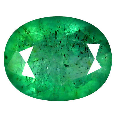 0.98 ct FIVE-STAR OVAL CUT (7 X 6 MM) COLOMBIAN EMERALD NATURAL GEMSTONE