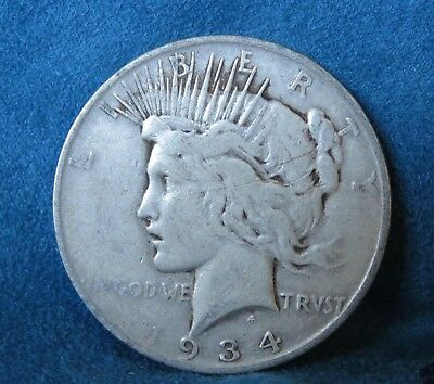 1934 D United States of America Peace Silver Dollar Denver