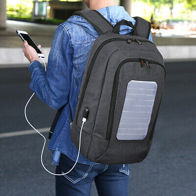 Outdoor Multi-function Solar Power Anti Theft Laptop Backpack College Bags