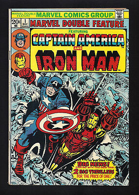 Marvel Double Feature #1  Very Good+  1973
