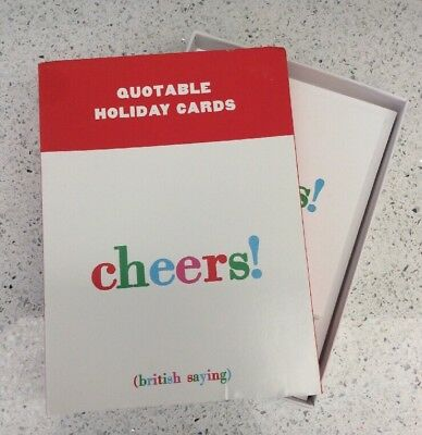british saying cheers quotable holiday cards happy new year set of 10 envelopes