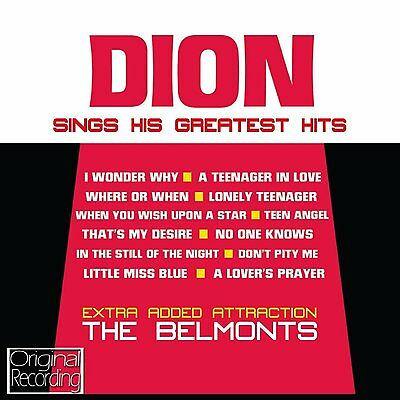 Dion Greatest Hits / Best Of  New Sealed Cd * I Wonder Why, Teenager In Love +