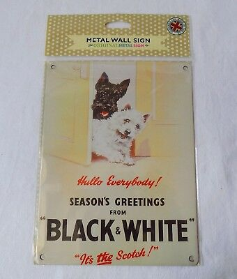 Advertising Wall Sign  Black & White Scotch Whisky. The Original Metal Sign Co.