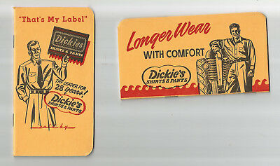 Dickie's Shirts & Pants Work Clothes - Pocket Notebook - 1950