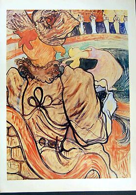 Original Old Vintage Print 1993 Toulouse Lautrec Art Nouveau Cirque Dancer Men