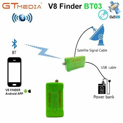 Bluetooth DVB-S2 Satellite Finder Meter FTA HD Satfinder With Android IOS System
