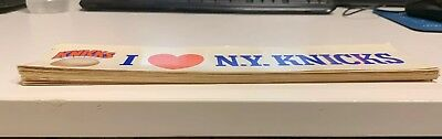 Lot Of 40 Vintage I Love The N.Y. Knicks Bumper Stickers