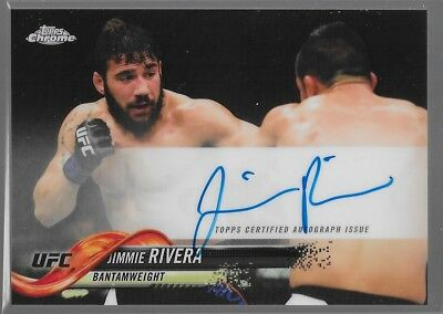 2018 Topps Chrome UFC Refractor Auto Jimmie Rivera FA-JR