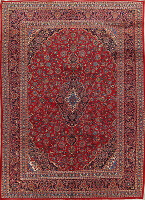 Labor Day Deal Vintage Mint Condition Kashmar Persian Fl Red Area Rug 9x12