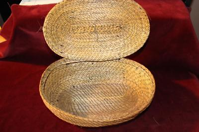 Rare Early Vintage Hand Woven Gullah Hinged Lid Sweet Grass Basket S. Carolina