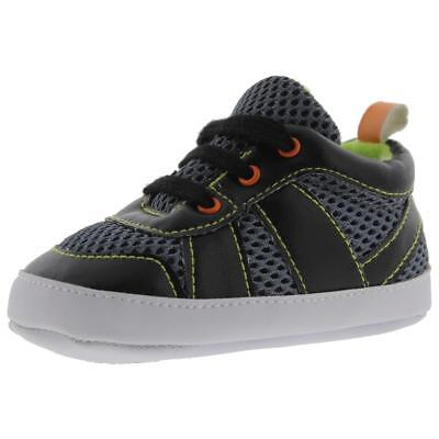 Luvable Friends Black Infant Athletic Shoes Sneakers 12-18 MO BHFO 2697