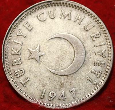 1947 Turkey Lira Silver Foreign Coin