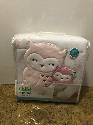 Child Of Mine Owl Quilt Baby Comforter. New!