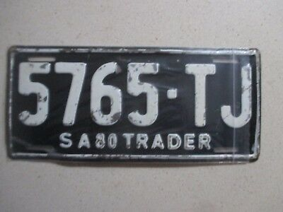 South Australia :    Genuine 1980 TRADE plate  # 5765 TJ    nice collectable