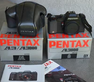 Pentax A-3000 Body and Case in Original Boxes