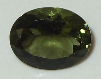 1.45ct Faceted TOP QUALITY Natural Czechoslovakia Moldavite Oval Cut 9.1x7.1mm