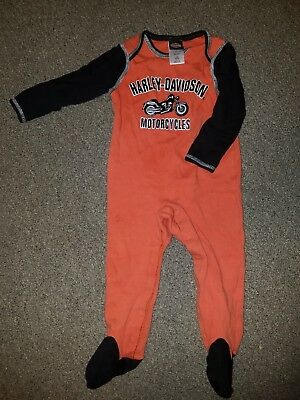 Harley Davidson Outfit 18 Months Baby Boy One Piece.