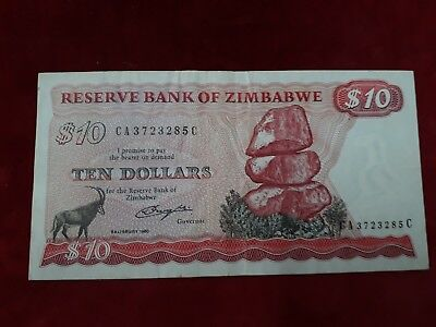 Zimbabwe Ticket From 10 Dollars 1980 Ref39181