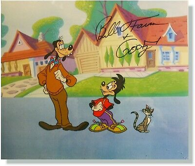 Goof Troop original production Cel GOOFY Max Hand Signed Bill Farmer