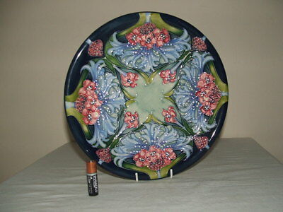 Moorcroft 1 St Class Florian Lilac Wall Or Cabinet Plate  Truly Fabulous