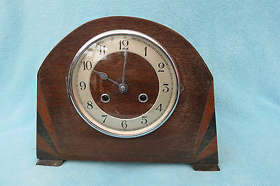 Vintage Kienzle Art Deco String Mantel Clock For Spares Or Repair