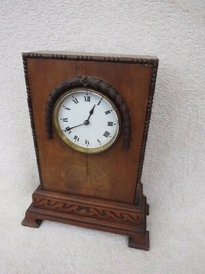 Antique Edwardian French Drum Mantel Clock For Spares Or Repair