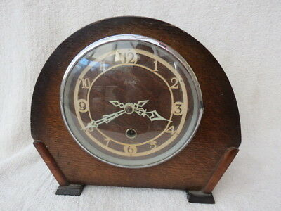 Vintage Art Deco Enfield 8 Day Mantel Clock For Light Tlc